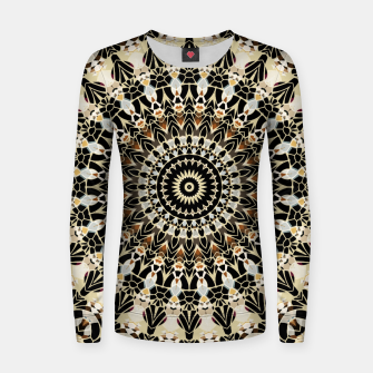 Thumbnail image of Black and Gold Filigree Mandala Women Sweater, Live Heroes