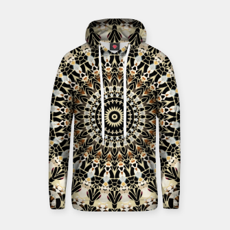 Thumbnail image of Black and Gold Filigree Mandala Hoodie, Live Heroes