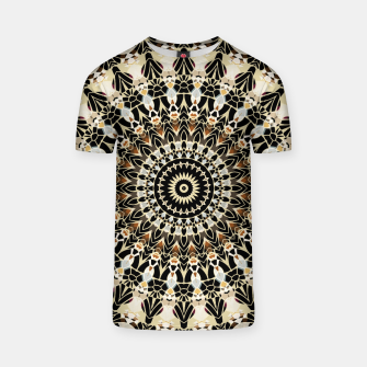 Thumbnail image of Black and Gold Filigree Mandala T-shirt, Live Heroes