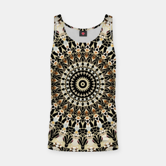 Thumbnail image of Black and Gold Filigree Mandala Tank Top, Live Heroes