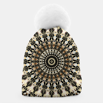 Thumbnail image of Black and Gold Filigree Mandala Beanie, Live Heroes
