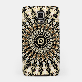 Thumbnail image of Black and Gold Filigree Mandala Samsung Case, Live Heroes