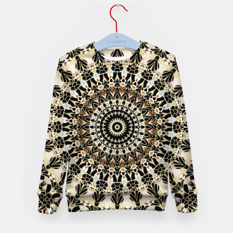 Thumbnail image of Black and Gold Filigree Mandala Kid's Sweater, Live Heroes