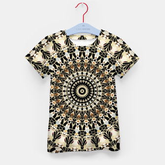 Thumbnail image of Black and Gold Filigree Mandala Kid'sT-shirt, Live Heroes