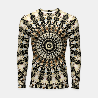 Thumbnail image of Black and Gold Filigree Mandala Longsleeve Rashguard , Live Heroes