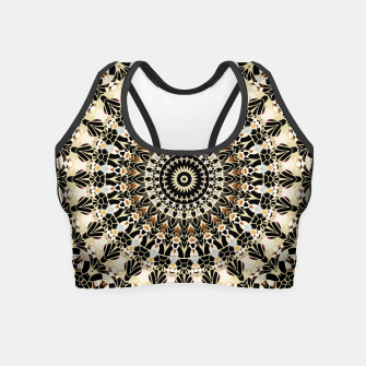 Thumbnail image of Black and Gold Filigree Mandala Crop Top, Live Heroes