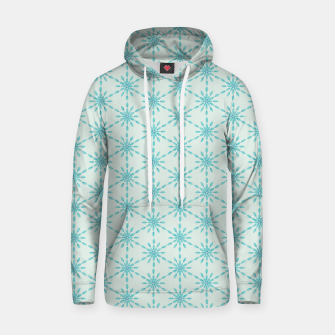 Thumbnail image of Simple Pretty Hand Painted Watercolor Snowflakes Winter Holiday Pattern, Turquoise, Teal, Mint Color Hoodie, Live Heroes