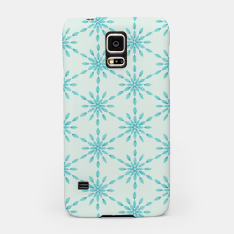 Thumbnail image of Simple Pretty Hand Painted Watercolor Snowflakes Winter Holiday Pattern, Turquoise, Teal, Mint Color Samsung Case, Live Heroes