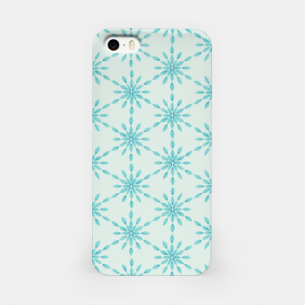 Thumbnail image of Simple Pretty Hand Painted Watercolor Snowflakes Winter Holiday Pattern, Turquoise, Teal, Mint Color iPhone Case, Live Heroes