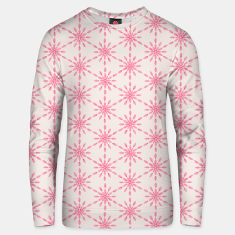 Imagen en miniatura de Simple Pretty Hand Painted Watercolor Snowflakes / Flowers, Winter Holiday Pattern in Blush, Rose, Pink Unisex sweater, Live Heroes
