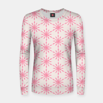 Imagen en miniatura de Simple Pretty Hand Painted Watercolor Snowflakes / Flowers, Winter Holiday Pattern in Blush, Rose, Pink Women sweater, Live Heroes