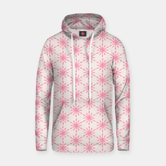 Imagen en miniatura de Simple Pretty Hand Painted Watercolor Snowflakes / Flowers, Winter Holiday Pattern in Blush, Rose, Pink Hoodie, Live Heroes