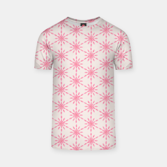 Imagen en miniatura de Simple Pretty Hand Painted Watercolor Snowflakes / Flowers, Winter Holiday Pattern in Blush, Rose, Pink T-shirt, Live Heroes