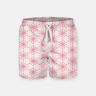 Imagen en miniatura de Simple Pretty Hand Painted Watercolor Snowflakes / Flowers, Winter Holiday Pattern in Blush, Rose, Pink Swim Shorts, Live Heroes