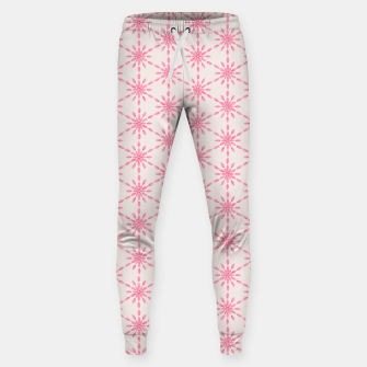 Imagen en miniatura de Simple Pretty Hand Painted Watercolor Snowflakes / Flowers, Winter Holiday Pattern in Blush, Rose, Pink Sweatpants, Live Heroes
