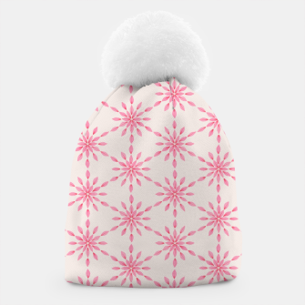 Imagen en miniatura de Simple Pretty Hand Painted Watercolor Snowflakes / Flowers, Winter Holiday Pattern in Blush, Rose, Pink Beanie, Live Heroes