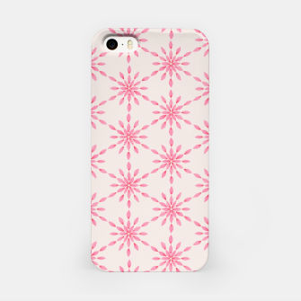 Imagen en miniatura de Simple Pretty Hand Painted Watercolor Snowflakes / Flowers, Winter Holiday Pattern in Blush, Rose, Pink iPhone Case, Live Heroes