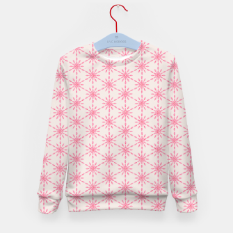 Imagen en miniatura de Simple Pretty Hand Painted Watercolor Snowflakes / Flowers, Winter Holiday Pattern in Blush, Rose, Pink Kid's sweater, Live Heroes