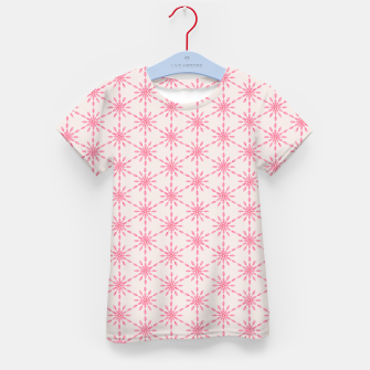 Imagen en miniatura de Simple Pretty Hand Painted Watercolor Snowflakes / Flowers, Winter Holiday Pattern in Blush, Rose, Pink Kid's t-shirt, Live Heroes