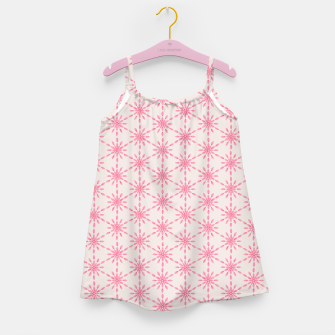 Imagen en miniatura de Simple Pretty Hand Painted Watercolor Snowflakes / Flowers, Winter Holiday Pattern in Blush, Rose, Pink Girl's dress, Live Heroes