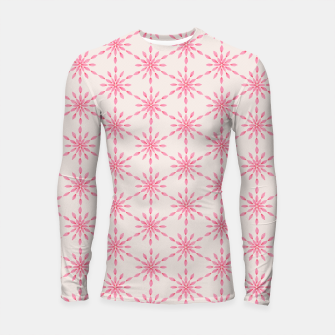 Imagen en miniatura de Simple Pretty Hand Painted Watercolor Snowflakes / Flowers, Winter Holiday Pattern in Blush, Rose, Pink Longsleeve rashguard , Live Heroes
