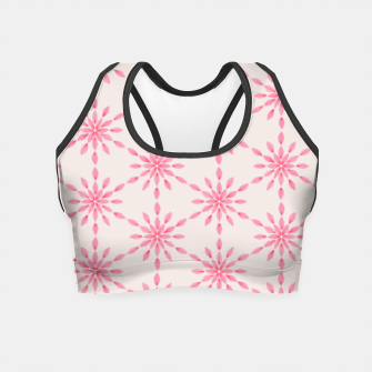 Imagen en miniatura de Simple Pretty Hand Painted Watercolor Snowflakes / Flowers, Winter Holiday Pattern in Blush, Rose, Pink Crop Top, Live Heroes