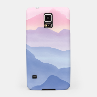 Miniatur Magical Candy Hand-painted Watercolor Mountains, Airy Mountain Landscape in Pastel Blush Pink, Purple and Blue Color Samsung Case, Live Heroes