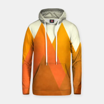 Miniatur Modern Warming Abstract Geometric Mountains Landscape with Rising Sun in Hot Autumnal Ochre Colors Hoodie, Live Heroes