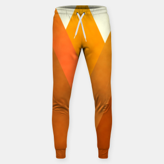 Miniatur Modern Warming Abstract Geometric Mountains Landscape with Rising Sun in Hot Autumnal Ochre Colors Sweatpants, Live Heroes