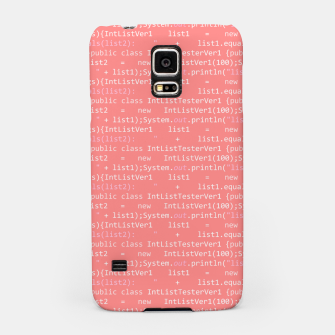 Computer Software Code Pattern in Pink Coral  Samsung Case thumbnail image