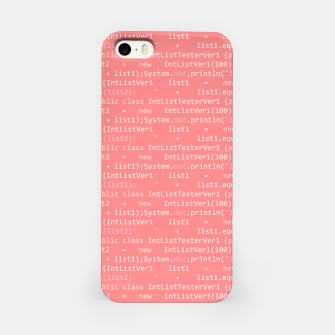 Computer Software Code Pattern in Pink Coral  iPhone Case thumbnail image
