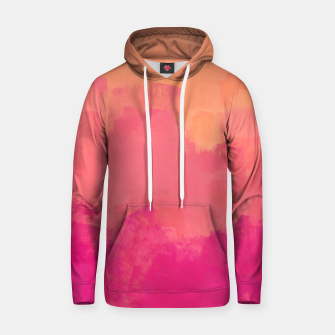 Miniatur Modern Abstract Colorful Explosion in Peachy Salmon, Pink Coral and Bright Fuchsia Colors, Paint Stripes Hoodie, Live Heroes