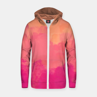 Miniatur Modern Abstract Colorful Explosion in Peachy Salmon, Pink Coral and Bright Fuchsia Colors, Paint Stripes Zip up hoodie, Live Heroes
