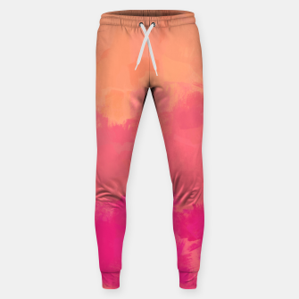 Miniatur Modern Abstract Colorful Explosion in Peachy Salmon, Pink Coral and Bright Fuchsia Colors, Paint Stripes Sweatpants, Live Heroes