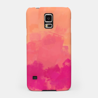Miniatur Modern Abstract Colorful Explosion in Peachy Salmon, Pink Coral and Bright Fuchsia Colors, Paint Stripes Samsung Case, Live Heroes