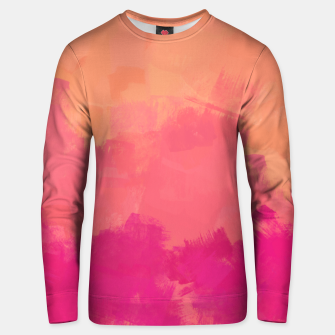 Miniatur Modern Abstract Colorful Explosion in Peachy Salmon, Pink Coral and Bright Fuchsia Colors, Paint Stripes Unisex sweater, Live Heroes