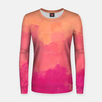 Miniatur Modern Abstract Colorful Explosion in Peachy Salmon, Pink Coral and Bright Fuchsia Colors, Paint Stripes Women sweater, Live Heroes