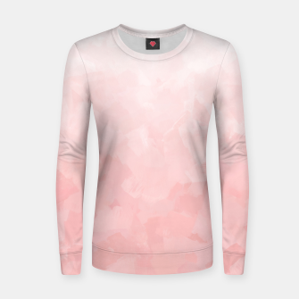 Thumbnail image of Shades of Soft Baby Pink, Abstract Painting Women sweater, Live Heroes