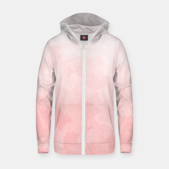 Thumbnail image of Shades of Soft Baby Pink, Abstract Painting Zip up hoodie, Live Heroes