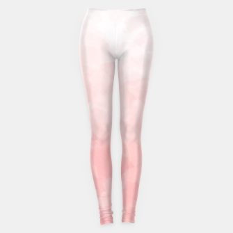 Thumbnail image of Shades of Soft Baby Pink, Abstract Painting Leggings, Live Heroes
