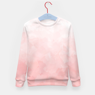 Thumbnail image of Shades of Soft Baby Pink, Abstract Painting Kid's sweater, Live Heroes
