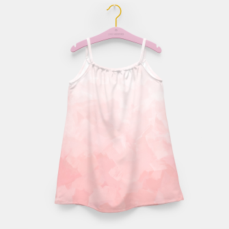 Thumbnail image of Shades of Soft Baby Pink, Abstract Painting Girl's dress, Live Heroes
