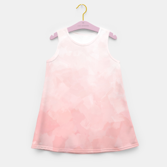 Thumbnail image of Shades of Soft Baby Pink, Abstract Painting Girl's summer dress, Live Heroes