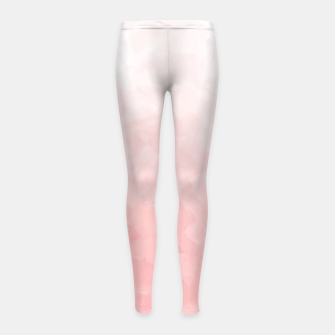 Thumbnail image of Shades of Soft Baby Pink, Abstract Painting Girl's leggings, Live Heroes