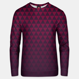 Thumbnail image of Purple Triangles, Geometric Design in Dark Red and Purple Ombre Gradient  Unisex sweater, Live Heroes