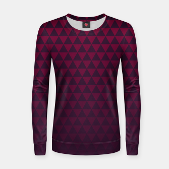 Thumbnail image of Purple Triangles, Geometric Design in Dark Red and Purple Ombre Gradient  Women sweater, Live Heroes