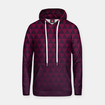 Thumbnail image of Purple Triangles, Geometric Design in Dark Red and Purple Ombre Gradient  Hoodie, Live Heroes