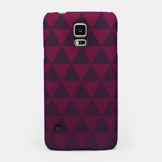 Miniaturka Purple Triangles, Geometric Design in Dark Red and Purple Ombre Gradient  Samsung Case, Live Heroes