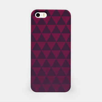 Miniaturka Purple Triangles, Geometric Design in Dark Red and Purple Ombre Gradient  iPhone Case, Live Heroes