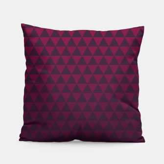 Thumbnail image of Purple Triangles, Geometric Design in Dark Red and Purple Ombre Gradient  Pillow, Live Heroes